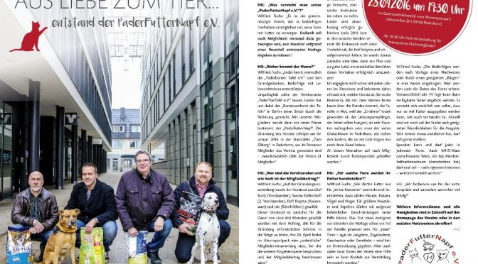 "Presseartikel ""Hochglanz Magazin"" April 2016"