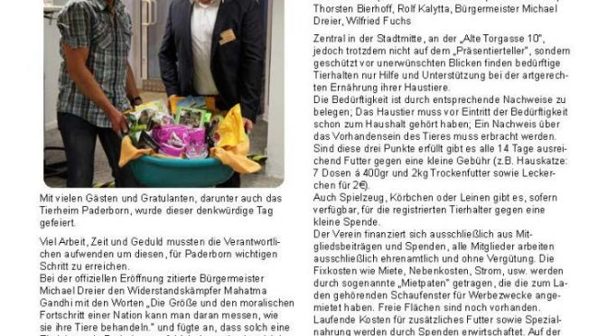 Tierheimzeitung August 2016
