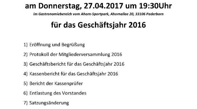 Mitgliederversammlung am 27.04.2017