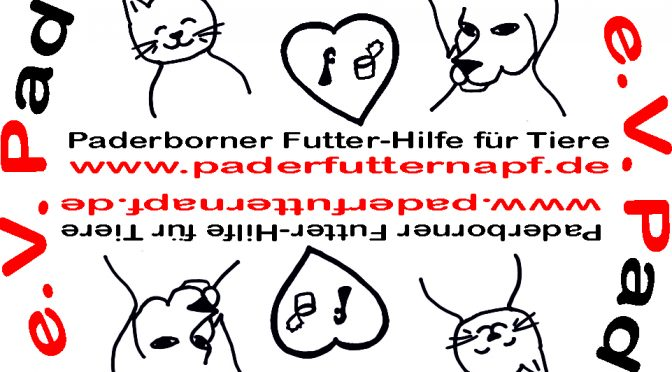 PaderFutterNapf-Aufkleber