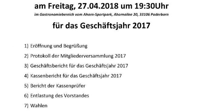 Mitgliederversammlung am 27.04.2018